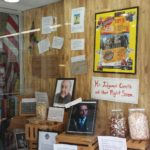 The Squirrel's Den decorated their store front with Shawshank mementos